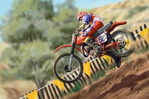 Marty Smith motocross superstar - Byron Chaney's Illustration and Design