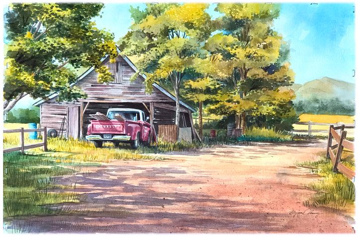 Farm Truck painting - Byron Chaney's Illustration and Design