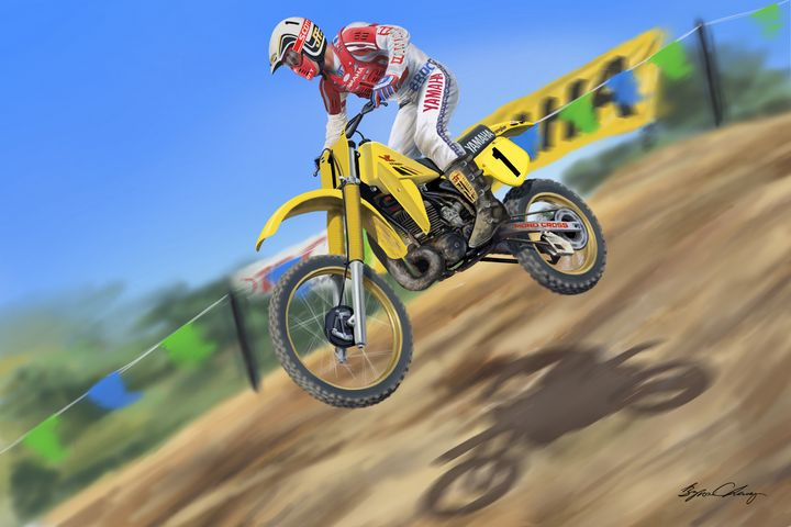 Broc Glover off of Bonzi Downhill - Byron Chaney's Illustration and Design