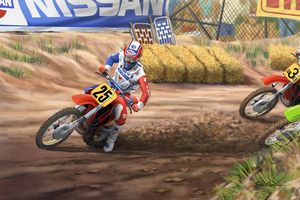 "Rick Johnson ""holeshot"" 86' USGP - Byron Chaney's Illustration and Design"