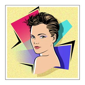 Keri Russell graphic portrait - Byron Chaney's Illustration and Design