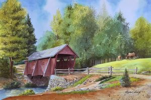 Red Covered Bridge - Byron Chaney's Illustration and Design