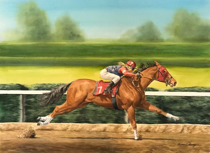 Running the Horse - Byron Chaney's Illustration and Design
