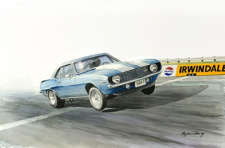 Camaro Wheelie - Byron Chaney's Illustration and Design