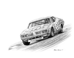 Richard Petty STP Dodge - Byron Chaney's Illustration and Design