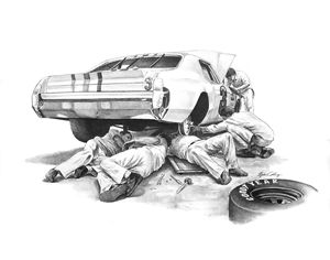 NASCAR Mechanics - Byron Chaney's Illustration and Design