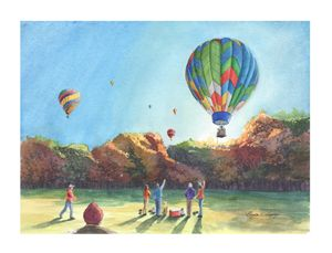 Fall Balloon Launch - Byron Chaney's Illustration and Design