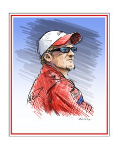 Dale Earnhardt Jr portrait - Byron Chaney's Illustration and Design