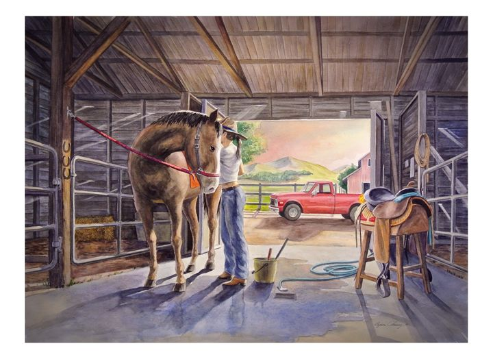 Getting Ready to Ride - Byron Chaney's Illustration and Design