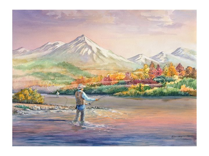 Morning Fly fishing - Byron Chaney's Illustration and Design