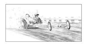 Dragster burnout - Byron Chaney's Illustration and Design