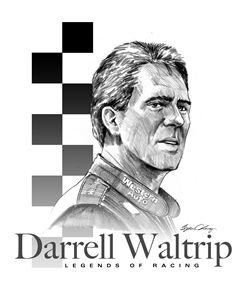 Darrell Waltrip Portrait - Byron Chaney's Illustration and Design