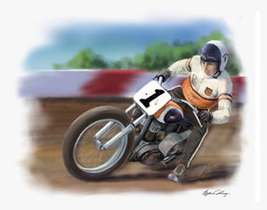 Mert Lawwill flat track - Byron Chaney's Illustration and Design
