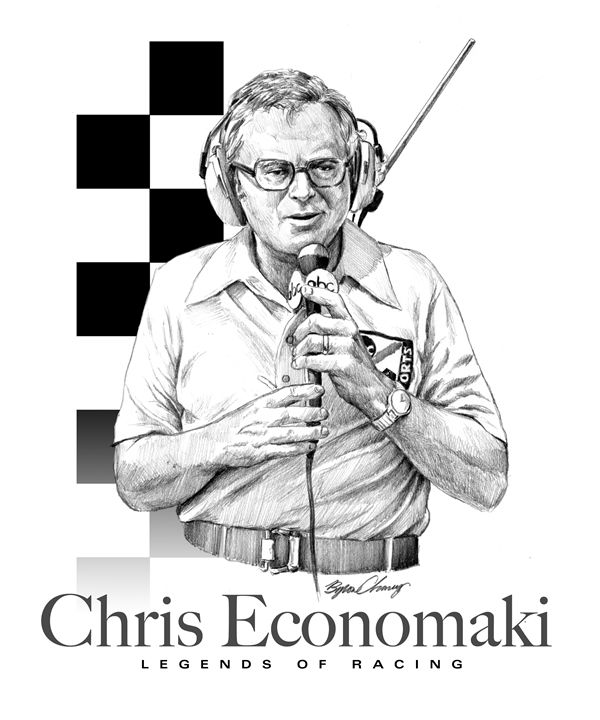 Chris Economaki Portrait - Byron Chaney's Illustration and Design