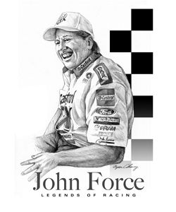 John Force Portrait - Byron Chaney's Illustration and Design