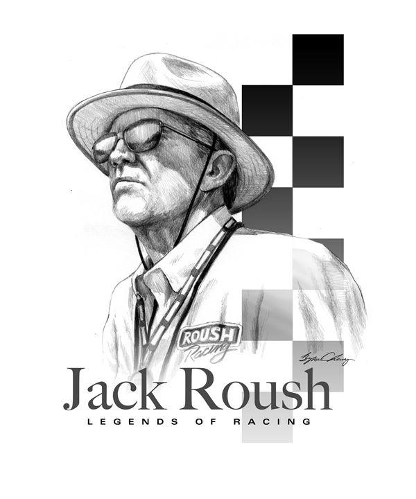 Jack Roush Portrait - Byron Chaney's Illustration and Design