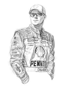 Kevin Harvick digital portrait - Byron Chaney's Illustration and Design