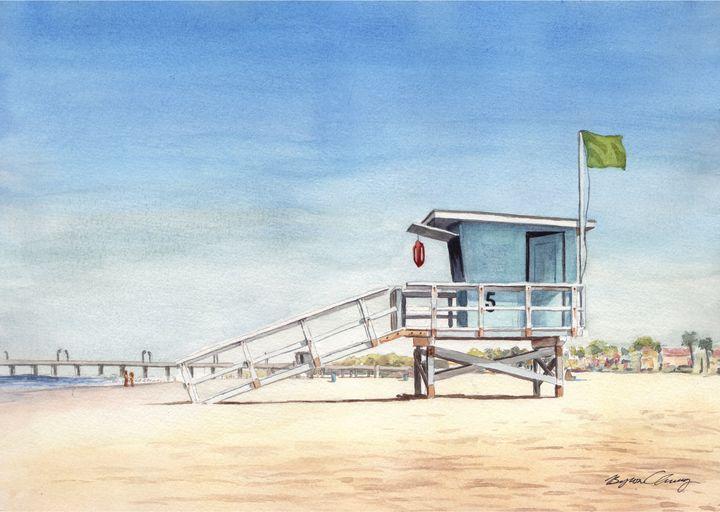Huntington Beach Lifeguard stand - Byron Chaney's Illustration and Design
