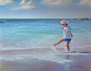 Sailor Boy on the Beach - Byron Chaney's Illustration and Design
