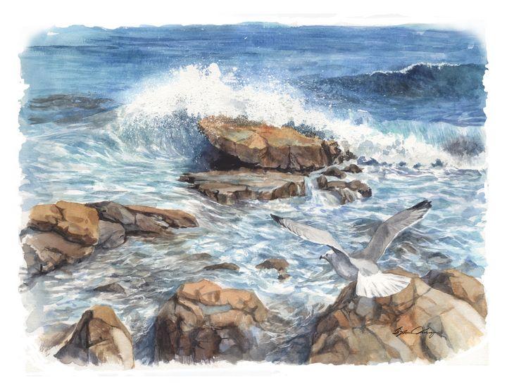 Laguna Waves - Byron Chaney's Illustration and Design