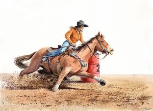 Barrel Rider around 2 - Byron Chaney's Illustration and Design