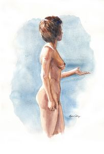 Nude Woman in profile - Byron Chaney's Illustration and Design