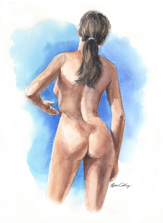 Nude Woman from Behind - Byron Chaney's Illustration and Design