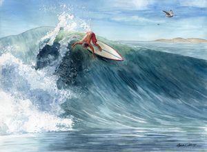 Newport Surfer - Byron Chaney's Illustration and Design