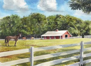 Waxhaw Horse Barn - Byron Chaney's Illustration and Design
