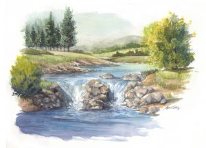 Country river stream - Byron Chaney's Illustration and Design