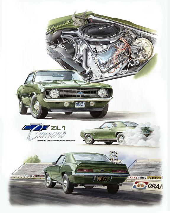 1969 ZL1 Camaro - Byron Chaney's Illustration and Design