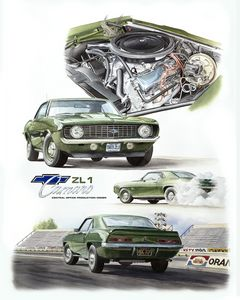 1969 ZL1 Camaro - Byron Chaney's Illustration and Design