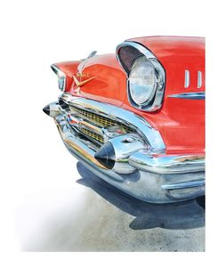 57' Chevy Bel Air nose - Byron Chaney's Illustration and Design