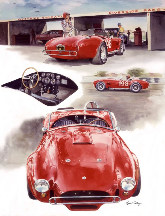 Shelby Cobra - Byron Chaney's Illustration and Design