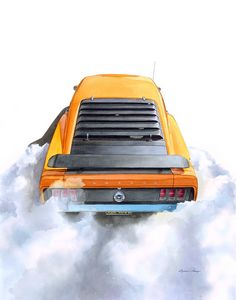 Mustang Mach 1 Burnout - Byron Chaney's Illustration and Design
