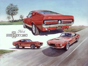 Shelby GT 350 Mustang - Byron Chaney's Illustration and Design