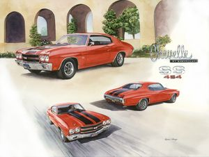 1970 LS6 Chevy Chevelle - Byron Chaney's Illustration and Design