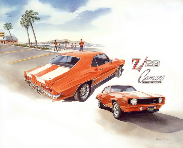 1969 Z/28 Camaro - Byron Chaney's Illustration and Design