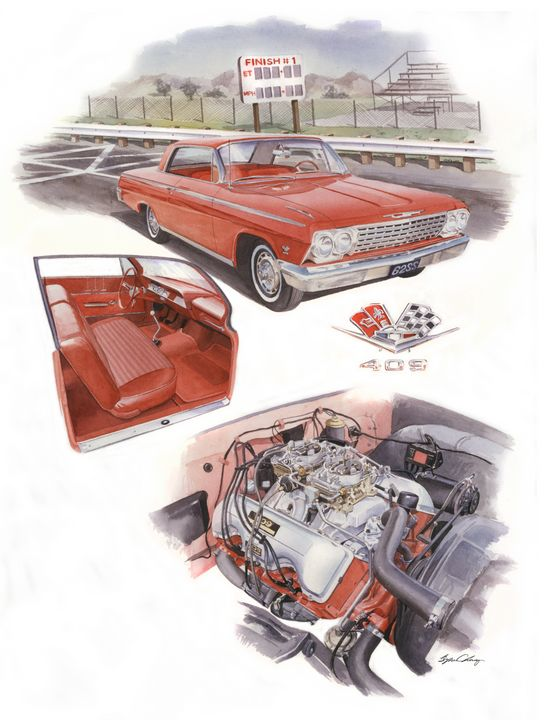 409 Chevy Impala - Byron Chaney's Illustration and Design