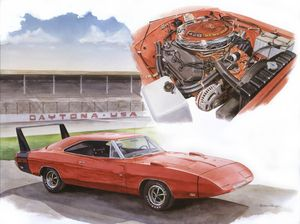 1969 Dodge daytona - Byron Chaney's Illustration and Design