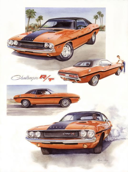 1970 Dodge Challenger RT - Byron Chaney's Illustration and Design