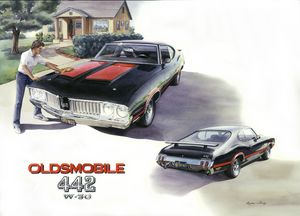 1971 442 Oldsmobile - Byron Chaney's Illustration and Design