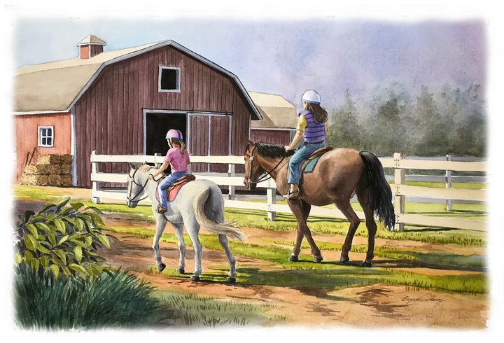 The Morning Ride - Byron Chaney's Illustration and Design