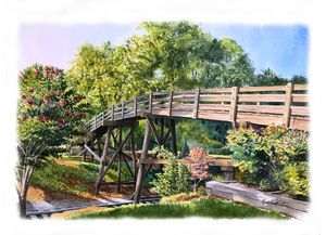 Waxhaw Bridge - Byron Chaney's Illustration and Design