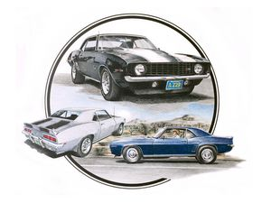 1969 Z28 Camaro portrait - Byron Chaney's Illustration and Design