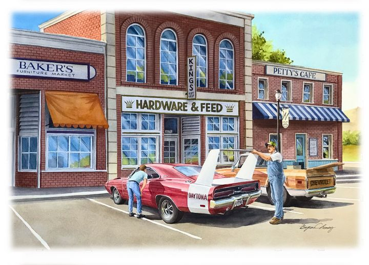 Dodge Daytona Parked - Byron Chaney's Illustration and Design