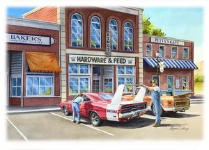 Dodge Daytona Parked - Byron Chaney's Illustration and Design