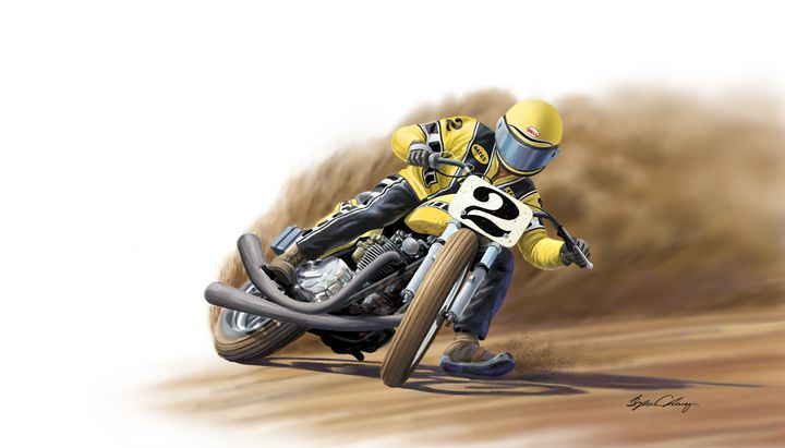 Kenny Roberts Powerslide - Byron Chaney's Illustration and Design