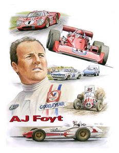 AJ Foyt Portrait - Byron Chaney's Illustration and Design