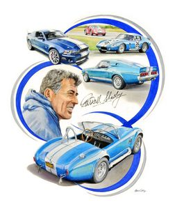 Carroll Shelby portrait